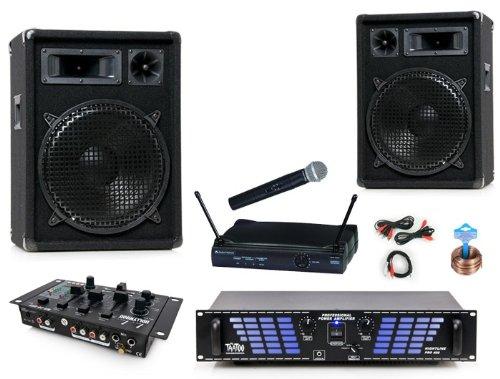 800W PA Anlage Boxen Verstärker Mischpult DJ-686
