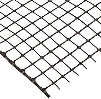 Resinet SLM404850-BK Square Mesh Barrier Fence, 4' Height