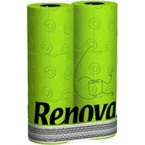 Renova kiwi grünes Toilettenpapier in Folie GRÜN