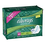 Always Ultra Thin Pads Super W/Flexi-Wings Unscented 42 Count by Always [並行輸入品]