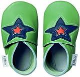 Bobux BB 4147 Green Astro Star Babyschuhe, Design Stern, Grün Taille S Vert avec étoile