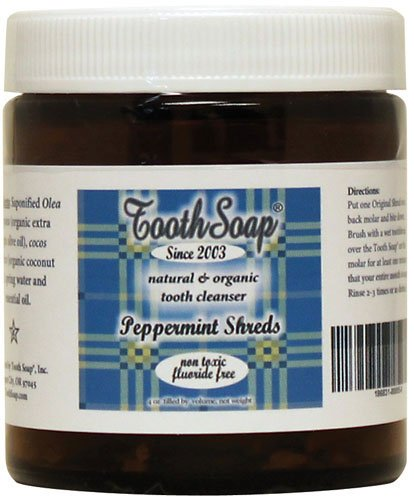 Tooth Soap Peppermint Shreds 4 oz Jar