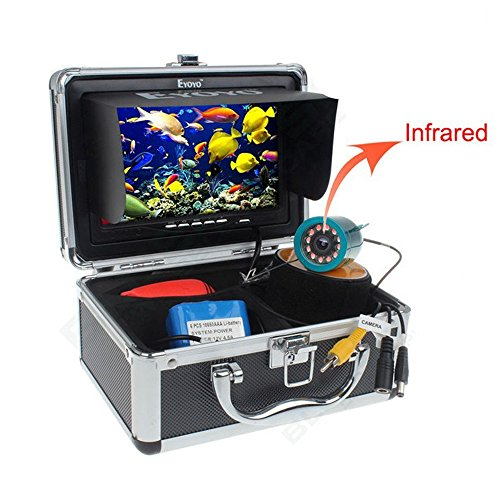 7″ Color LCD Waterproof 4000mah Fish Finder Underwater Fishing Video Camera
