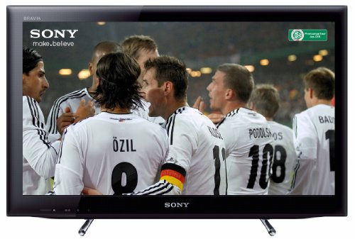 Sony KDL26EX555 66 cm (26 Zoll) LED-Backlight-Fernseher, Energieeffizienzklasse B (HD-Ready, 50Hz, DVB-T/C/S2, Internet TV) schwarz