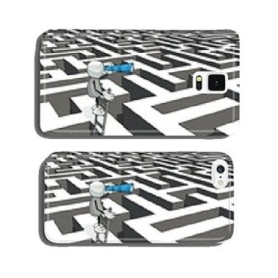 little-sketchy-man-with-ladder-and-telescope-in-a-maze-cell-phone-cover-case-Samsung-S5