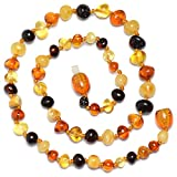 Amber Teething Necklace for Baby - Safety Knotted - Genuine Baltic Amber review