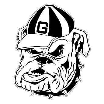 Amazon.com: Georgia Bulldogs White Outline Mascot Decal