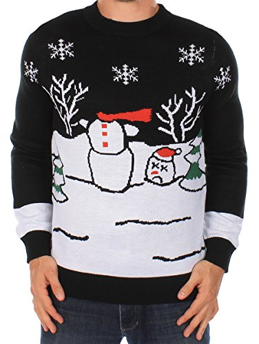 Ugly Christmas Sweater - Headless Snowman Sweater by Tipsy Elves (L)