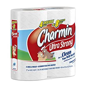 Amazoncom Charmin Ultra Strong Toilet Paper 4 Double