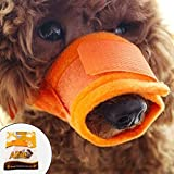 Alfie Pet by Petoga Couture - Matti Adjustable Quick Fit Nylon Mesh Muzzle - Color: Orange, Size: Small