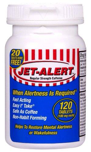 Jet-Alert Energy Stimulant Caffeine Pills 100Mg 120 ...