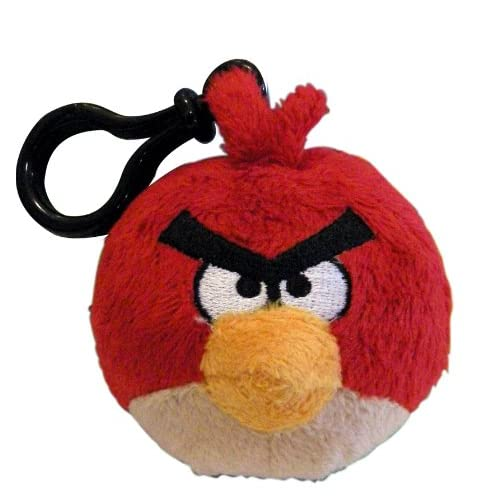 Angry Birds(アングリーバード) バックパッククリップ 3インチ ぬいぐるみ レッドバード
