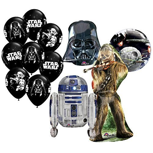 The Ultimate 12pc Star Wars Birthday Balloon Bouquet