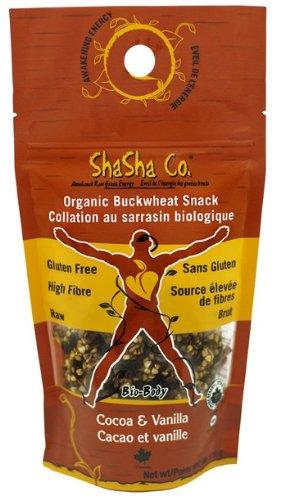 ShaSha Organic Cocoa/Vanilla Buckwheat Snacks, 6oz (170g)