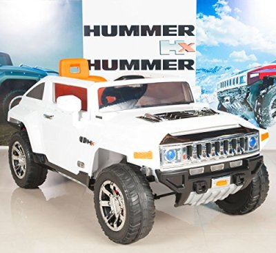Hummer-HX-Kids-Ride-On-TruckCar-12V-Powered-Wheels-with-RC-Remote-Control-White