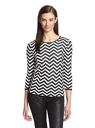 Paperwhite Women's Chevron Sweater (Black/White)