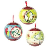 Amazon.com - Dr. Seuss Grinch Christmas Tree Ball Ornament ...