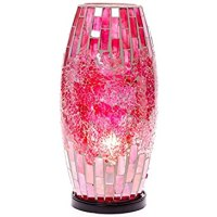 Pink Mosaic Accent Lamp : Lighting