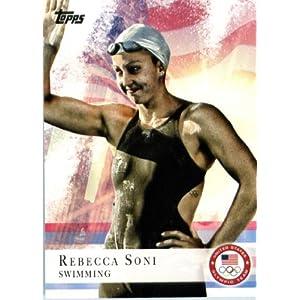 2012 Topps US Olympic Team #26 Rebecca Soni Swimming ENCASED U.S. Olympic Trading Card!