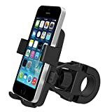 MsFeng One-Touch Mountain Bike Cell Phone Holder Handlebar Mount for iPhone 6/5s/5c/4s, Samsung Galaxy S5/S4, Google Nexus 5 - Bike's GPS Navigation Holder 360 Degree Rotation Anti-Skip Anti-Shaking