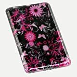 Premium Design Hard Snap-on Case Cover for the Nook, Barnes and Nobles Electronic eBook Reader - Cool Pink Butterfly Print