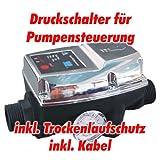 Pumpen Druckschalter AT-DWv-5 verkabelt, zur Pumpensteuerung für Kreisel-, Tauch- Tiefbrunnenpumpen mit max: Betriebsdruck von 10 bar
