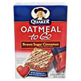 Quaker Oatmeal To Go Brown Sugar Cinnamon - 12 Pack