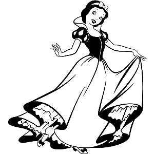 Princess Snow White Sticker 60 cm x 53 cm Disney Colour