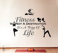 Wall Decals Quotes Sport Fitness Is Not A Destination ...