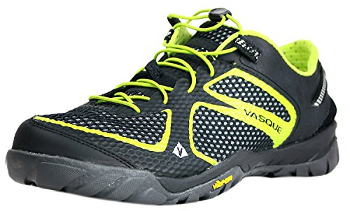 Vasque Men's Lotic Performance Water Shoe,Jet Black/Lime Green,10.5 M US