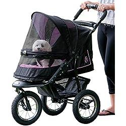 Pet Gear No-Zip NV Pet Stroller, Zipperless Entry, Rose