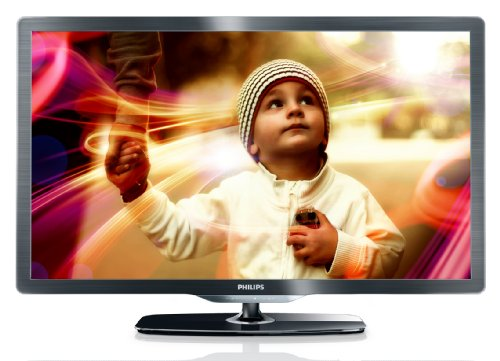 Philips 37PFL6606K/02 94 cm (37 Zoll) LED-Backlight-Fernseher, Energieeffizienzklasse A (Full-HD, 400 Hz PMR, DVB-T/-C/-S2, Smart TV) dunkel gebürstetes Silber