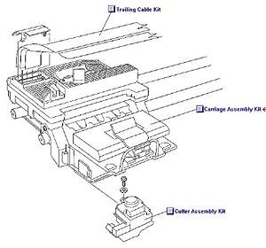 Amazon.com: HP 1500C Carriage Assy Kit: Electronics
