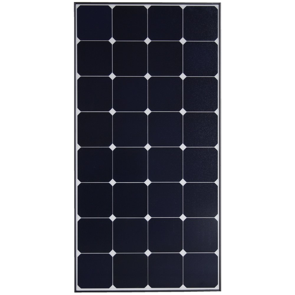 Grape Solar GS-S-100-TS 100 Watt Monocrystalline Solar Panel We have 8 of these glass panels installed on the roof of our bus – purchased and installed from AMSolar.com.