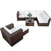 XINRO 22tlg. Polyrattan Gartenmbel Lounge Set (Modell ...