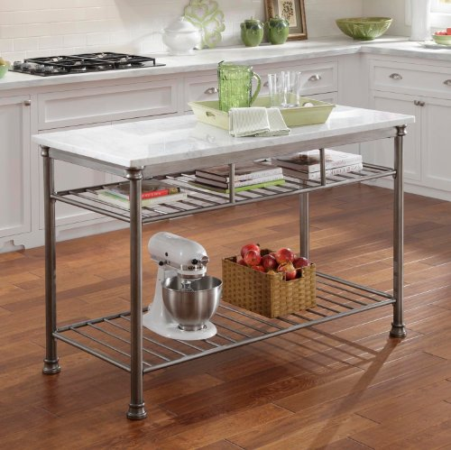 Home Styles 5060 94 Orleans Kitchen Island With Marble Top