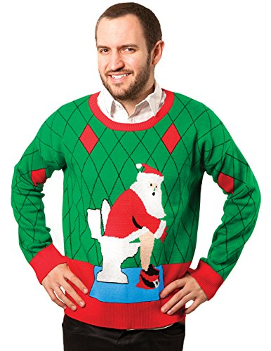 Pooping Santa Christmas Ugly Sweater Holiday Contest Winner