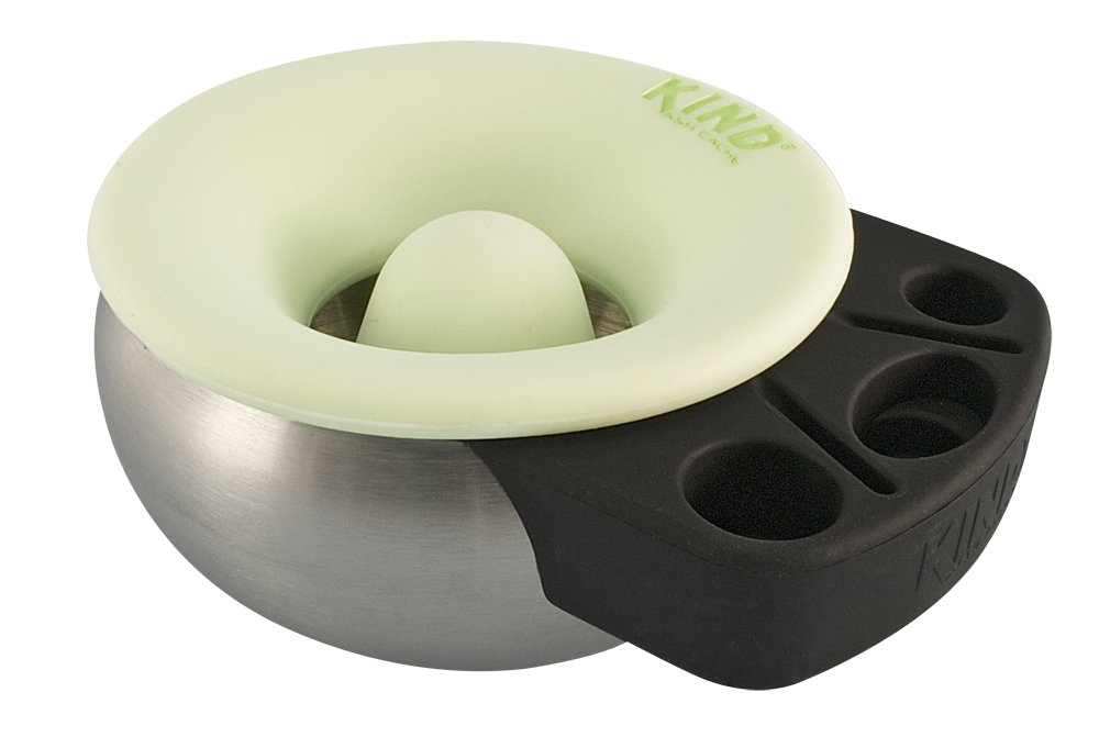 Kind Ash Cache Ashtray- Silicone topped ashtray with center smash piller. Glow in the dark - Assorted Colors