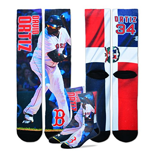 David Ortiz - Boston Red Sox - MLB Mega Flag Sublimation Crew Socks Size Large 10-13