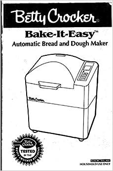 Betty Crocker Bread Machine Manual & Recipes (Model: BCF