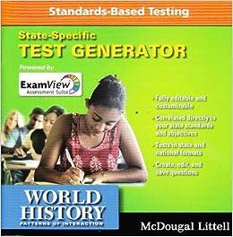 Amazoncom World History Patterns Of Interaction Exam