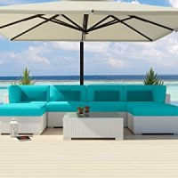 Amazon.com : Uduka Outdoor Sectional Patio Furniture White ...