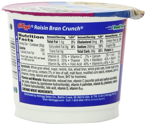 Raisin Bran Crunch Cereal, 2.8-Ounce Cups (Pack Of 12