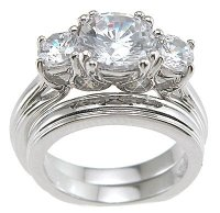Wedding Ring Set - Diamond