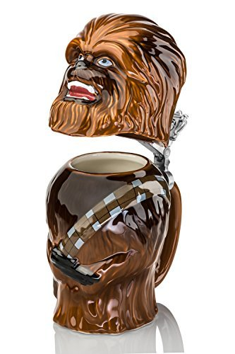 Star Wars Chewbacca Stein - Collectible 22oz Ceramic Mug with Metal Hinge by Underground Toys