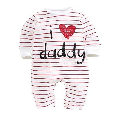 AOMOMO-Unisex-Baby-Newborn-I-Love-Mummy-I-Love-Daddy-Bodysuit-2-Pack