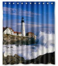 Lighthouse Shower Curtain Shop - Everything Log Homes