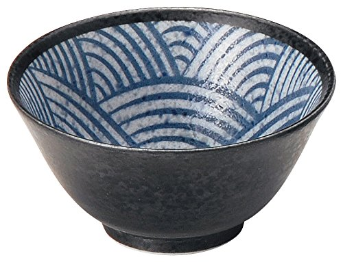 美濃焼 青海波 (SEIKAIHA) ~江戸小紋~ 飯碗 2個セット W20235-2