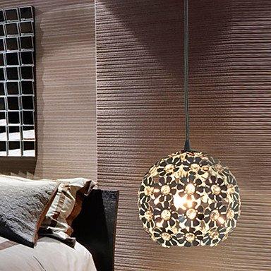 moderno e minimalista 1 ciondolo luce con paralume in cristallo globulare