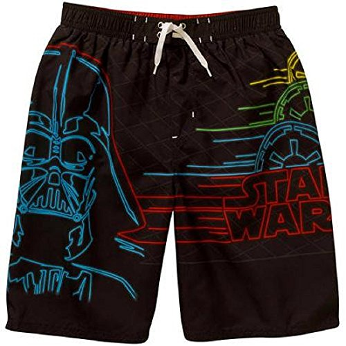 Boys Darth Vadar Star Wars Swim Trunks Swimsuit (xsmall 4/5)